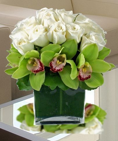 White Roses & Orchids