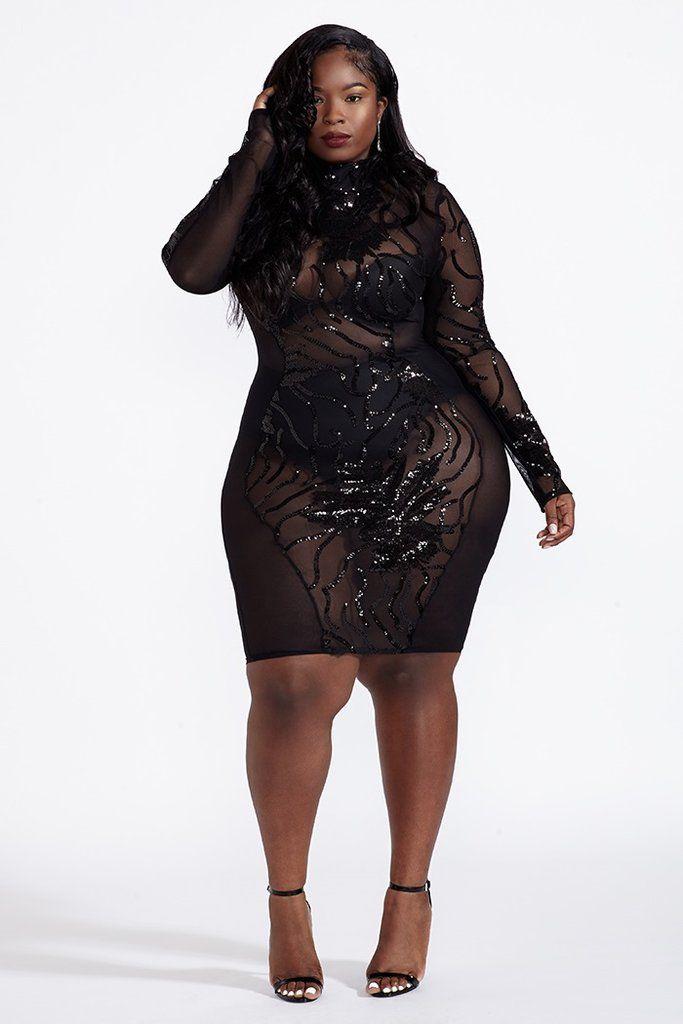 07763212e8d Plus Size Have It All Dress - Black