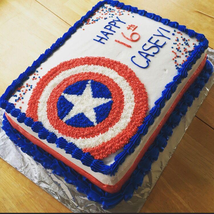 Captain America Cake Cake Ideas Pinterest Captain America