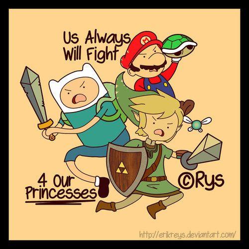 Luchando por las princesas