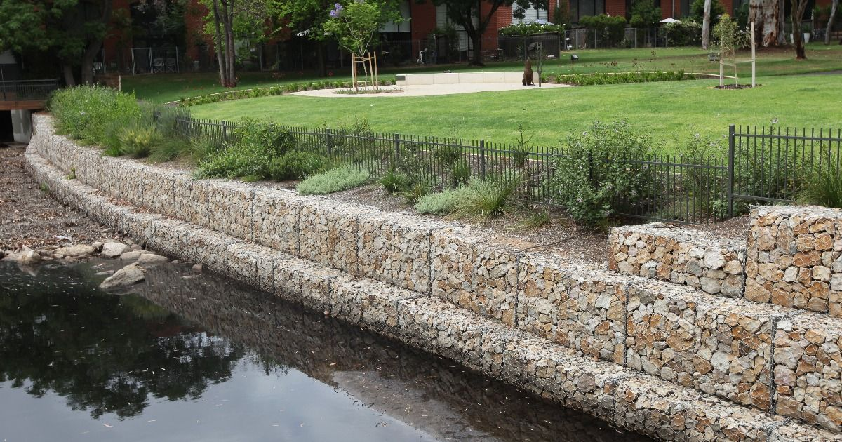Gabion Retaining Walls An Ideal Solution For Riverbank Creek Flood Protection Riverbank Flood Wall Gabion Retaining Wall
