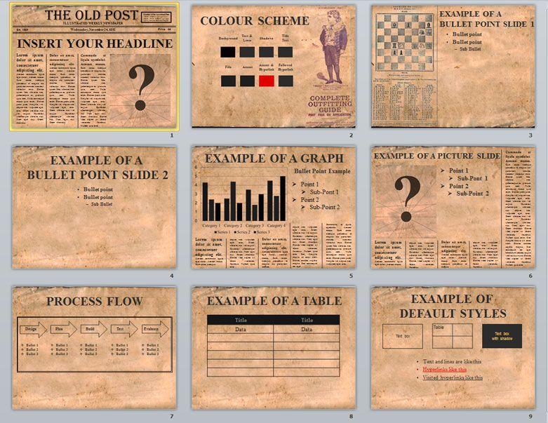Plantillas de Periódicos Editables en PowerPoint Gratis | periodico ...