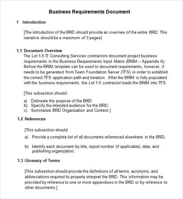 Simple business requirement document template 40 simple business simple business requirement document template 40 simple business requirements document templates template lab by flashek