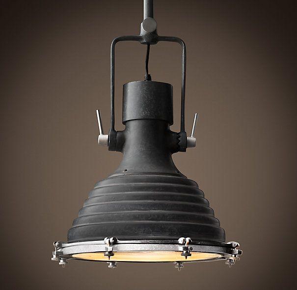 restoration industrial pendant lighting. Restoration Hardware Maritime Pendant · Industrial Light Lighting T