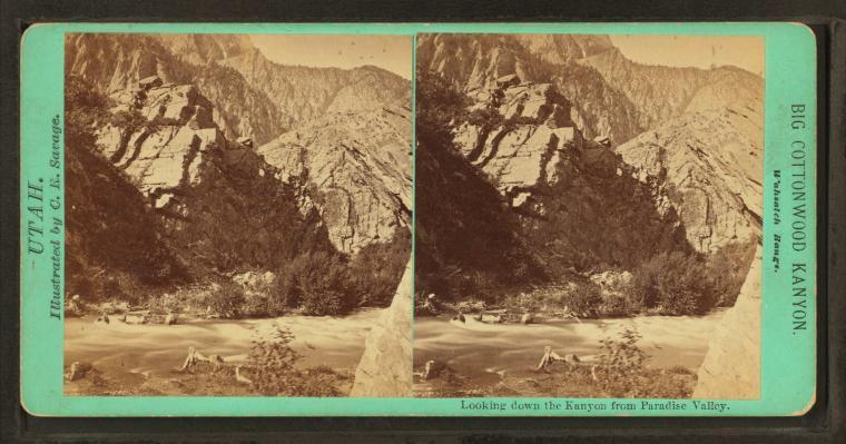 Stereoscopic views of Utah. Stereoscopic, Stereoscope