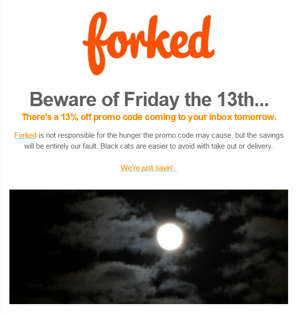 Tomorrow's Friday the 13th - Are you ready for discounts? Wait... That's what Friday the 13th is about, right?