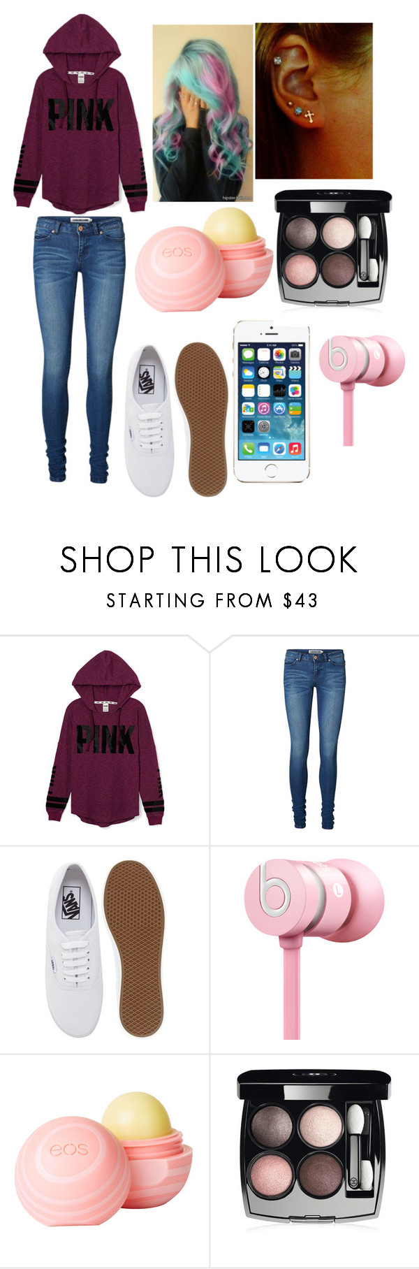 """""""Midnight walk"""" by imaray98 ❤ liked on Polyvore featuring Victoria's Secret PINK, Vero Moda, Vans, Beats by Dr. Dre, dELiA*s and Chanel"""