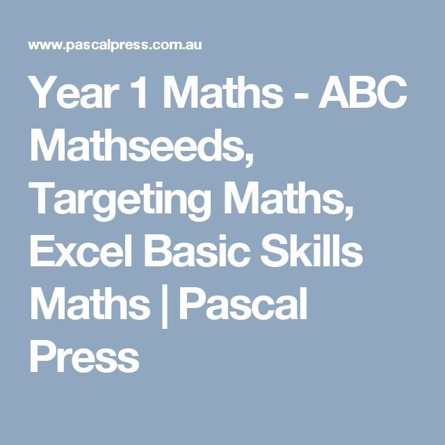 Year 1 Maths - ABC Mathseeds, Targeting Maths, Excel Basic Skills ...
