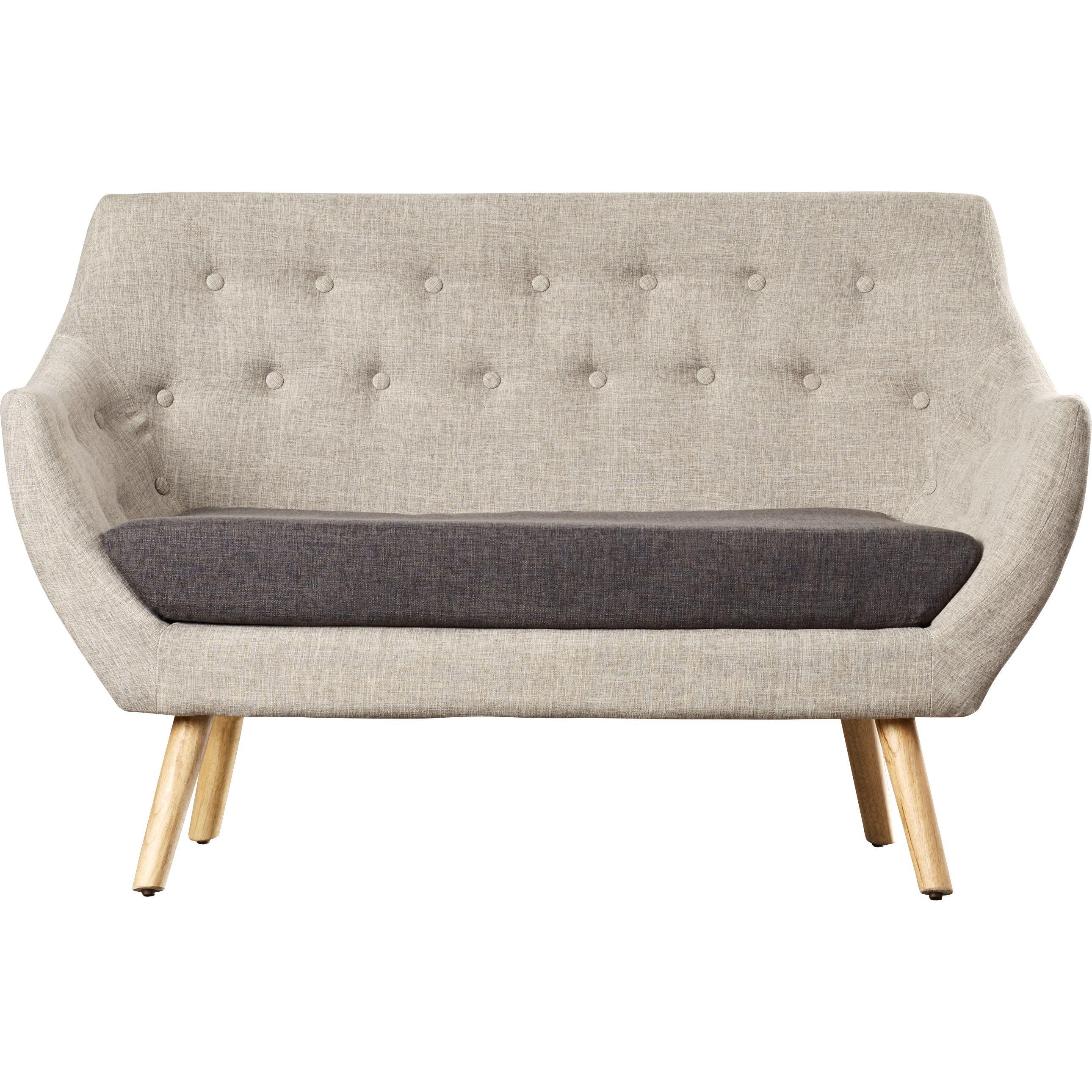 Laude Run Zack Mid Century Fabric Loveseat Furniture Pingoffice