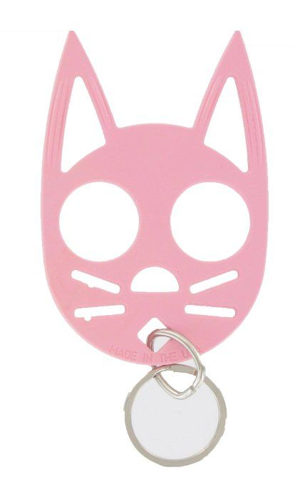 Amazon Com The Cat Personal Safety Keychain Pink Everything