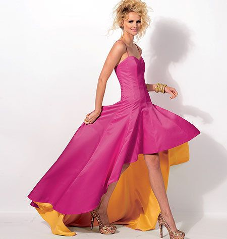 McCalls Dress Pattern M6701 - Misses' Fitted High/Low Evening ...