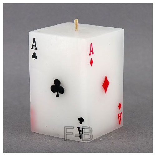 pokercard candle
