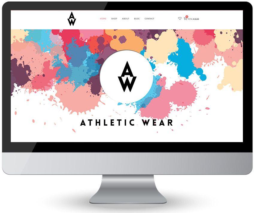 580897e40 screen web design athletic wear