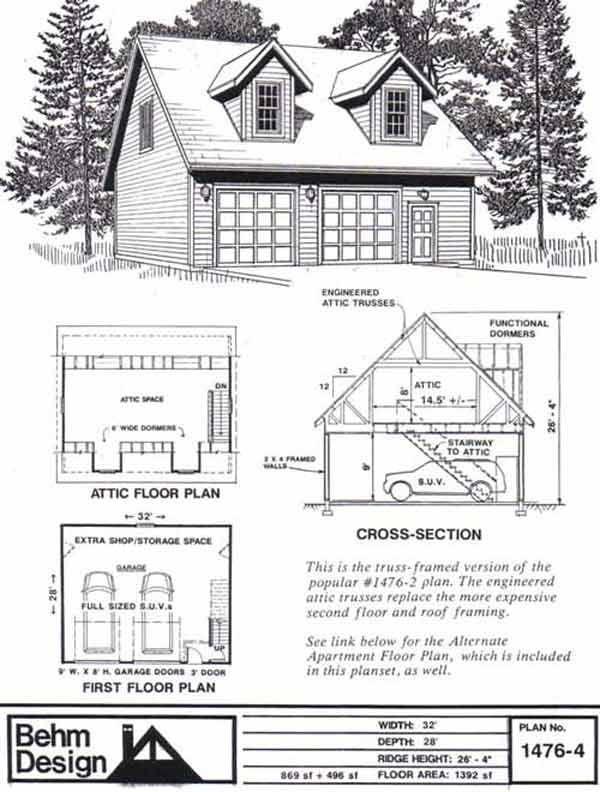16++ 2 car garage plans with loft ideas