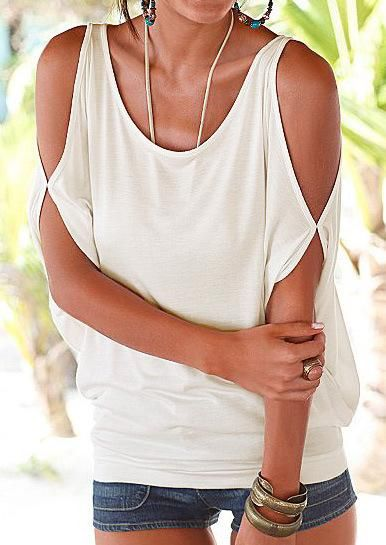 86e98d29fcbf9c Fashion Sexy Off Shoulder Half Sleeve Blouse