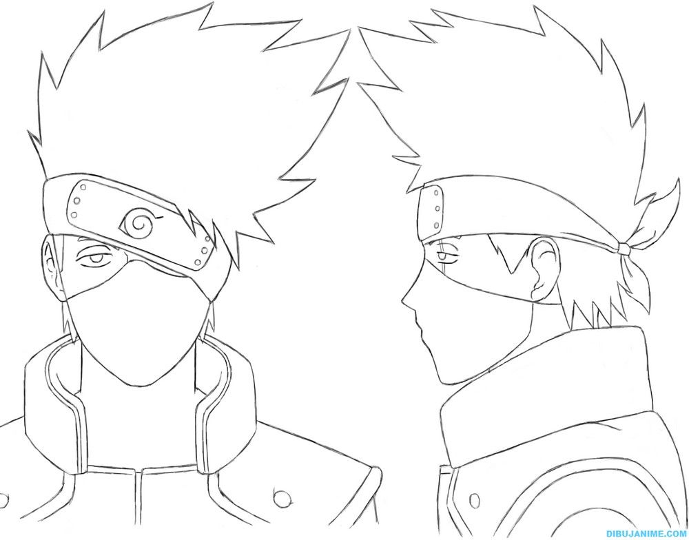 Como dibujar a Kakashi Hatake (rostro y cuerpo) Naruto Shippuden ...