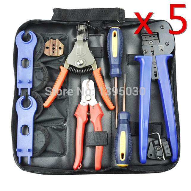 273.05$  Watch here - http://alimm9.worldwells.pw/go.php?t=32700278672 -  5Sets/Lot A-2546B Combination Cutting Crimping Stripping Pliers For Solar PV Tool Kits With Test Wire