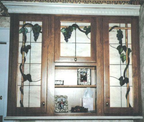 Stained Glass For Kitchen Cabinets: Leaded Glass Kitchen Cabinet Door