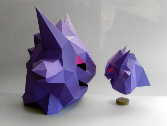 Pokemon Mask And Decor. Low Poly. Papercraft Printable Template. Paper  Sculpture