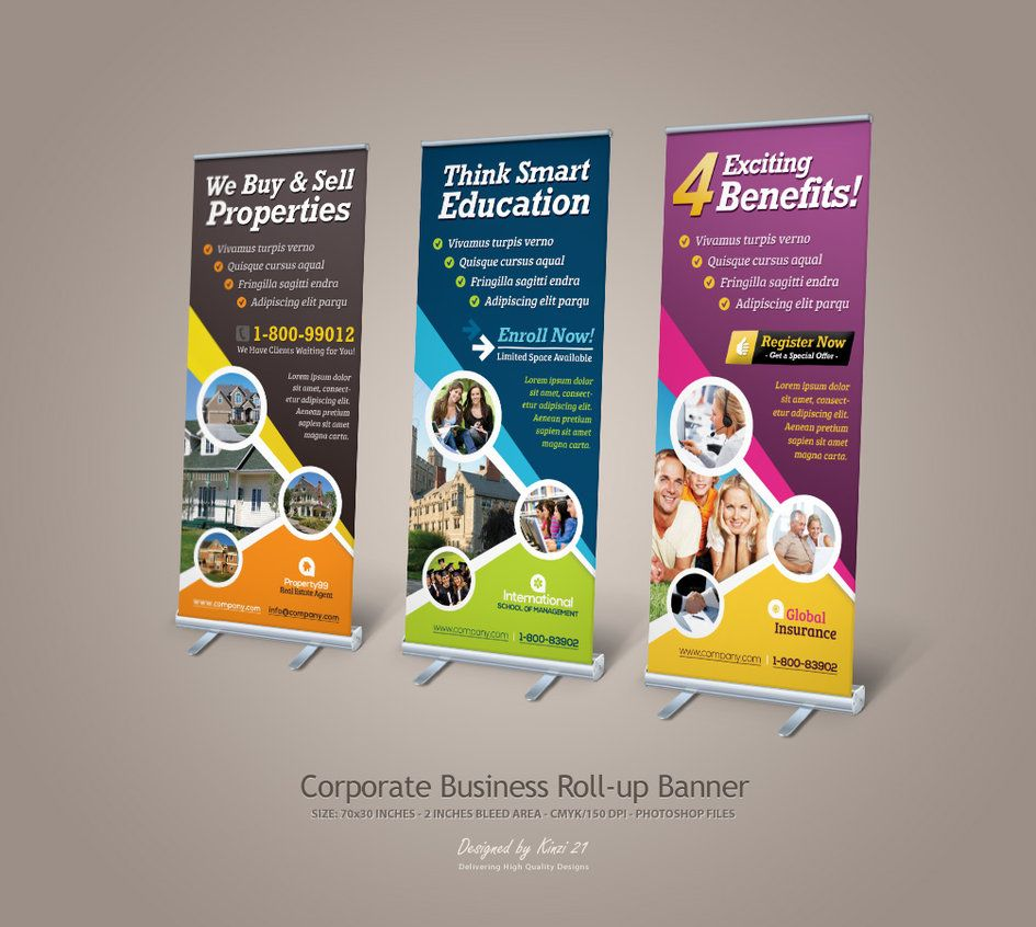 Design for roll up banner - Graphic River Corporate Business Roll Up Banner By Kinzi On Deviantart