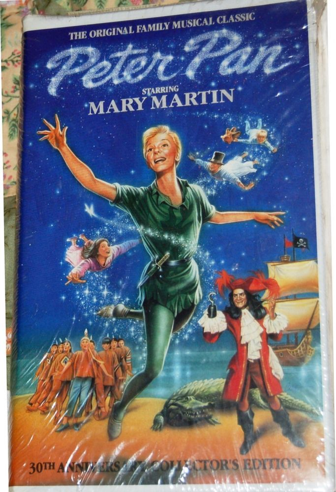 Peter Pan Vhs Mary Martin 30th Anniversary Collectors Edition New