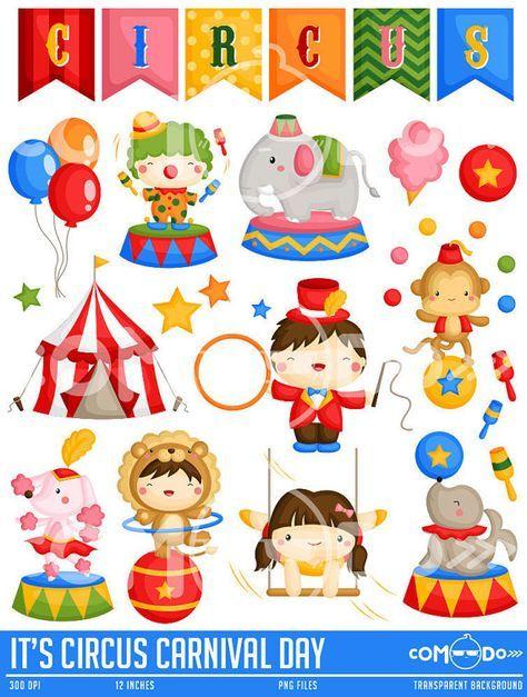 Circus Carnival Clipart Cute Circus Animal Clip Art Carnival Fun Free Svg On Request Personajes De Circo Circo Para Ninos Ilustracion De Circo