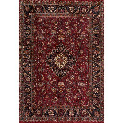 Bloomsbury Market Soza Traditional Red Black Tan Area Rug Rug Size
