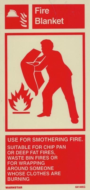 Marine Fire Equipment Sign: Fire Blanket
