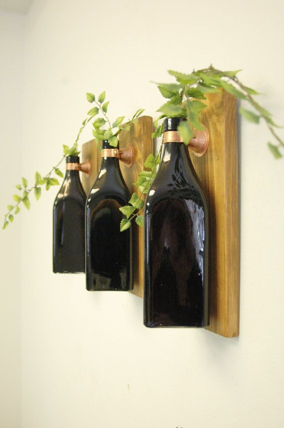 Wine Bottle Wall Decor Triangle Bottle Wall Decor Rustic Farmhouse Bedroom Kitchen