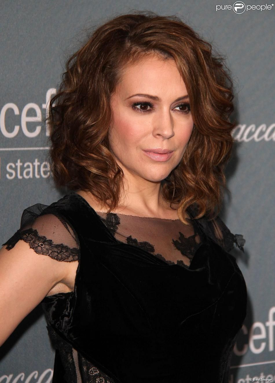 Alyssa Milano lors du gala UNICEF à Beverly Hills, le 14 ...