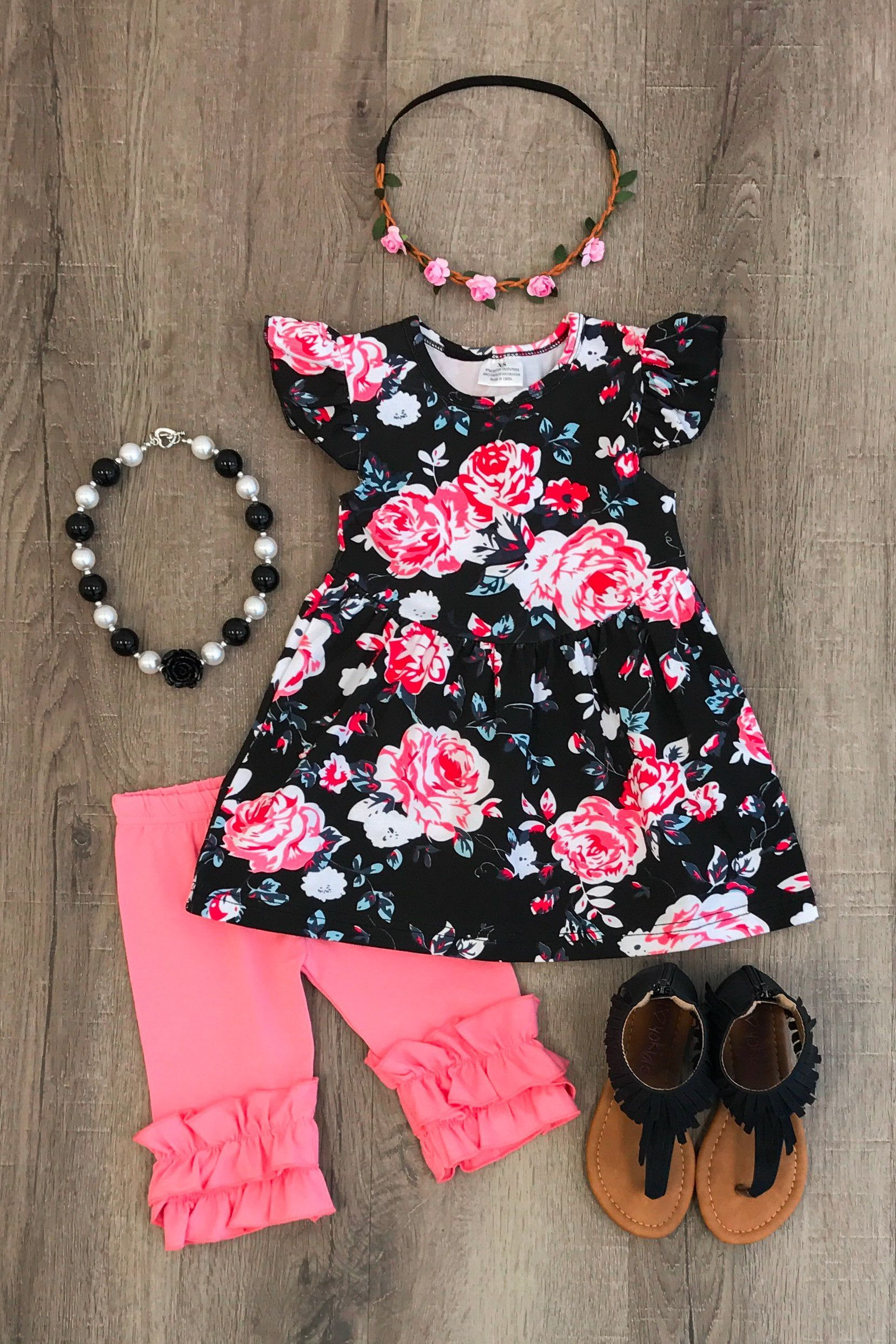 Ariana Floral Ruffle Short Set Baby Clothes Pinterest