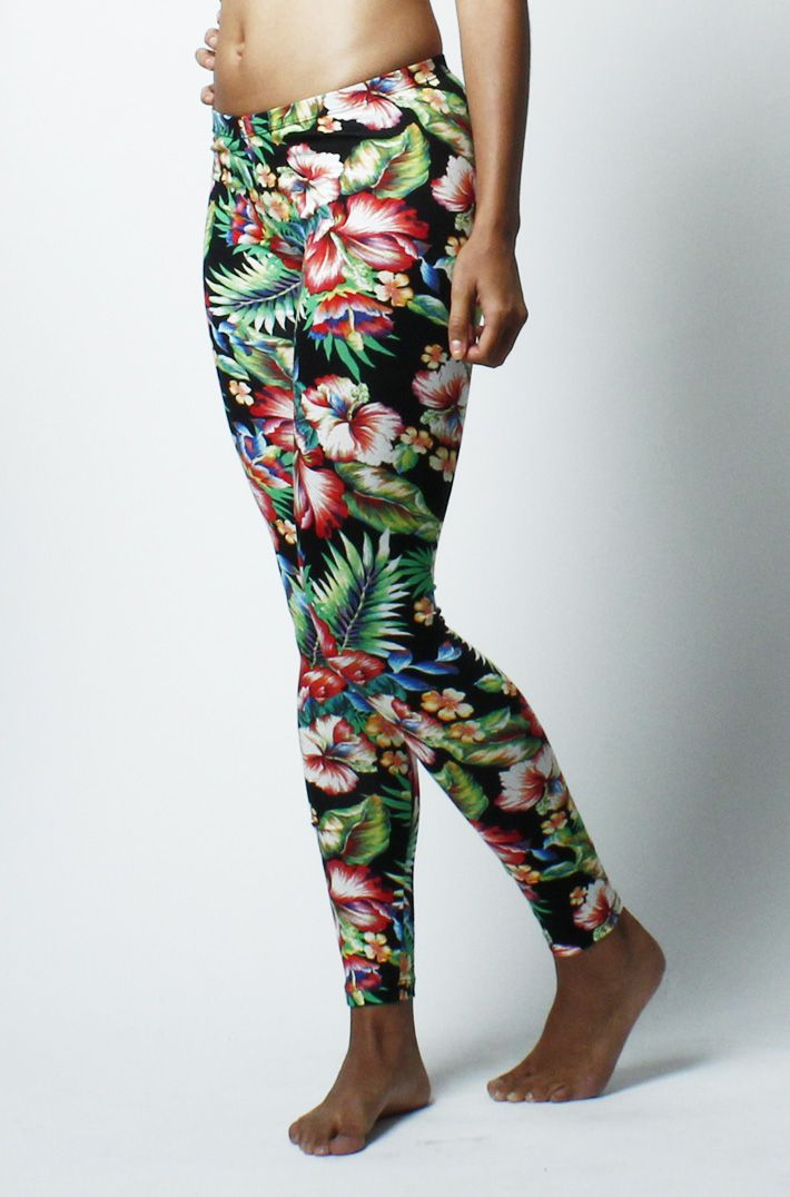 Bright And Colourful Floral Flower Print Leggings