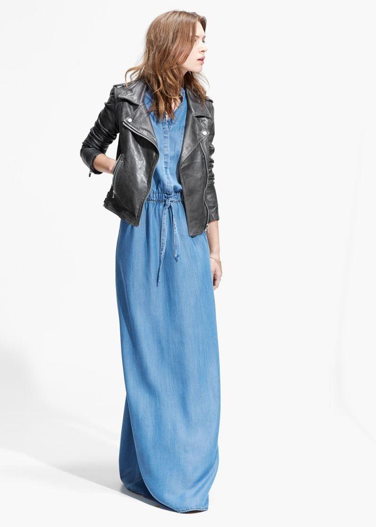 Jean Denim Maxi Dresses