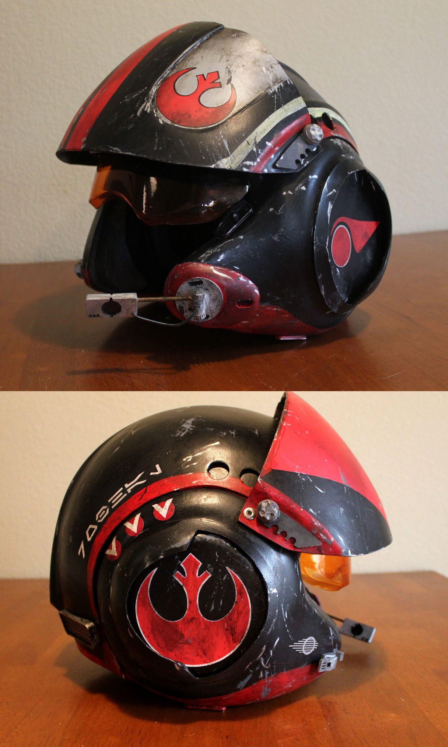 Episode 7 X Wing Pilot Helmet Episode 7 Pilot Helmet Prop Replicas Custom Fabrication Special Effects Pilot Helmet Star Wars Helmet Helmet