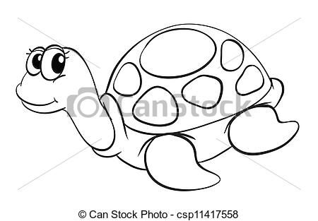 Tortoise Line Art