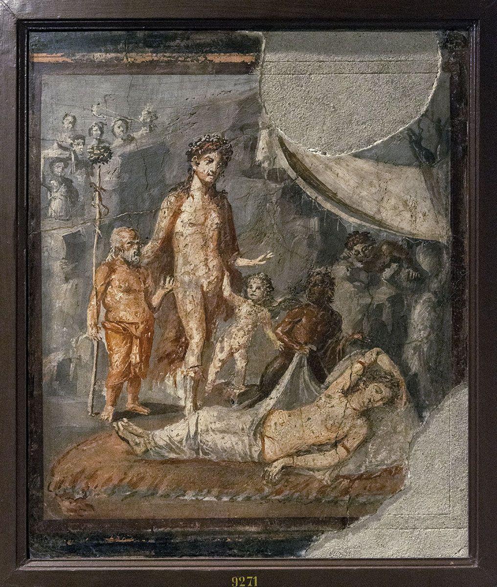 Bacchus Finding Ariadne Fresco From Pompeii Fourth Style 60 79