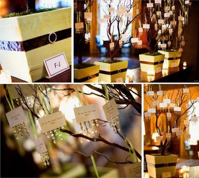 Instead of just laying out the escort cards make escort card trees do it yourself projects wedding place card holder tree and wedding fortune cookies solutioingenieria Images
