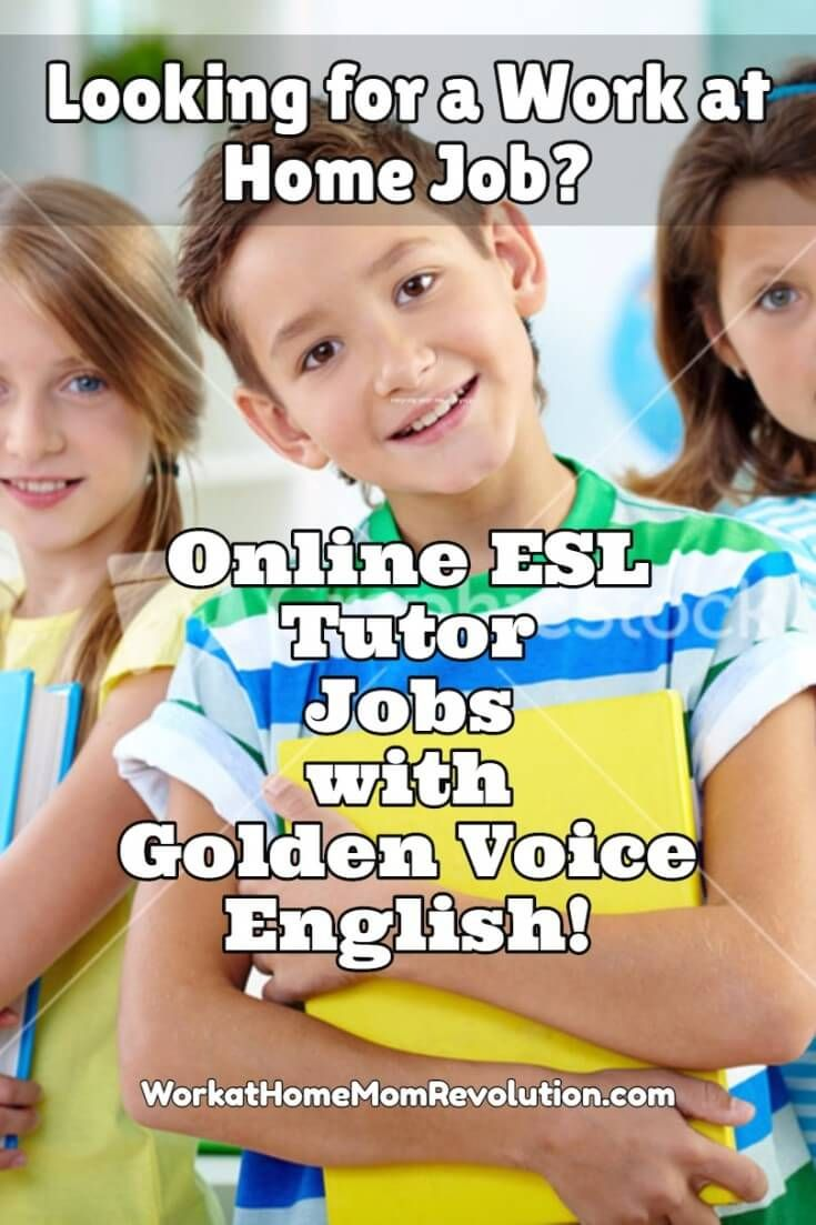 Work at Home Tutor Jobs with Golden Voice English | Work at Home