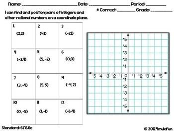 6th Grade Common Core Math Homework Sheets The Number System Math Homework Sixth Grade Math Common Core Math
