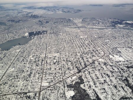 On the rare occasion that it does snow, Seattle looks gorgeous from every angle.