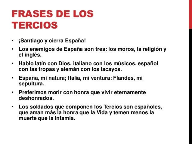 Frases De Los Tercios Españoles Tercios Españoles