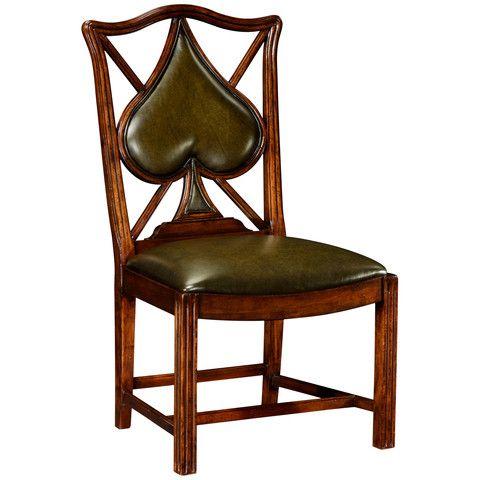 Game Chairs, Windsor, Medium wood, Wood, Leather, Jonathan Charles – Benjamin Rugs & Furniture