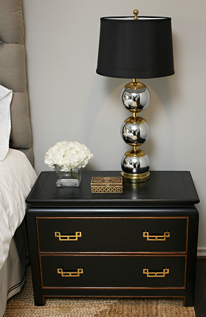 Bedrooms seagrass rug black asian chest nightstand silver stacked sally wheat interiors asian nightstand vignette with black asian chest nightstand silver stacked ball lamp with black lamp shade gray linen tufted aloadofball Gallery