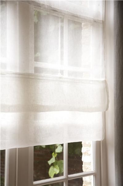 Sheer Linen Shades Drapery Panels Curtains With Blinds