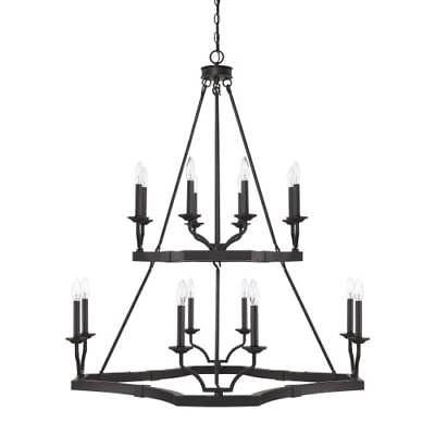 Capital lighting 419801bi ravenwood 16 light 38 1 2 wide chandelier round houseceiling fanstripodlamp