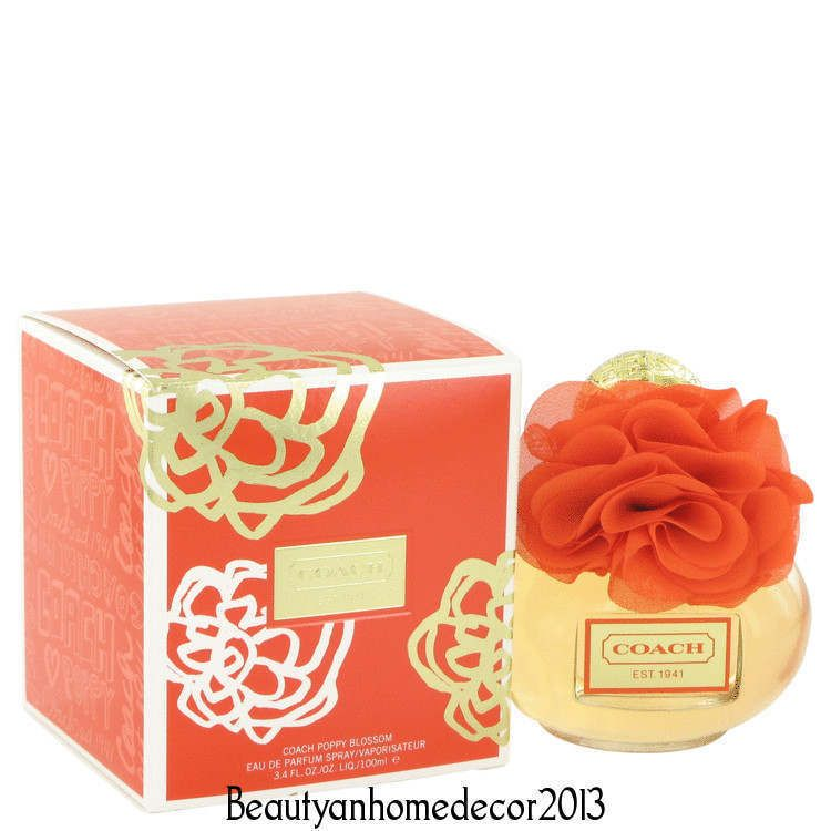 Coach Poppy Blossom by Coach 3.4 oz EDP Spray Perfume for Women New in Box #Coach