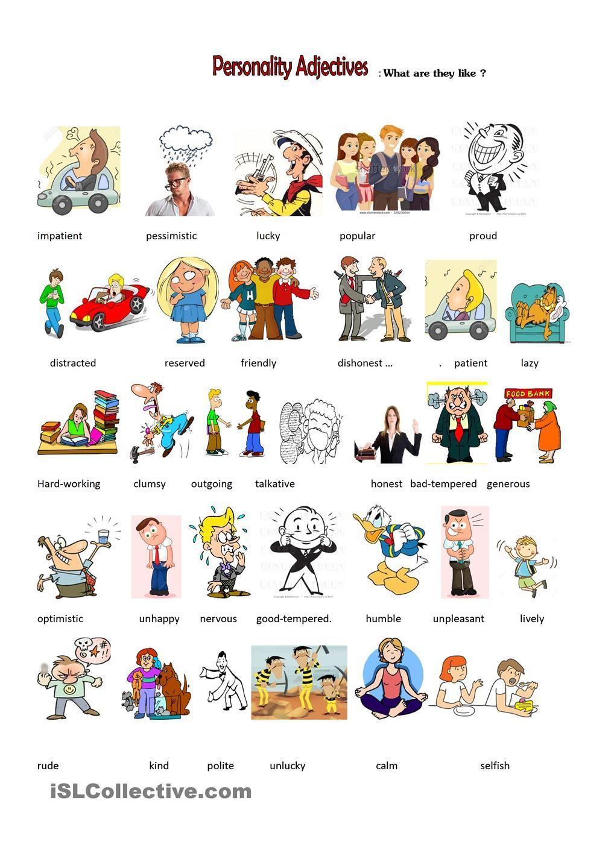 personality adjectives   English   Pinterest