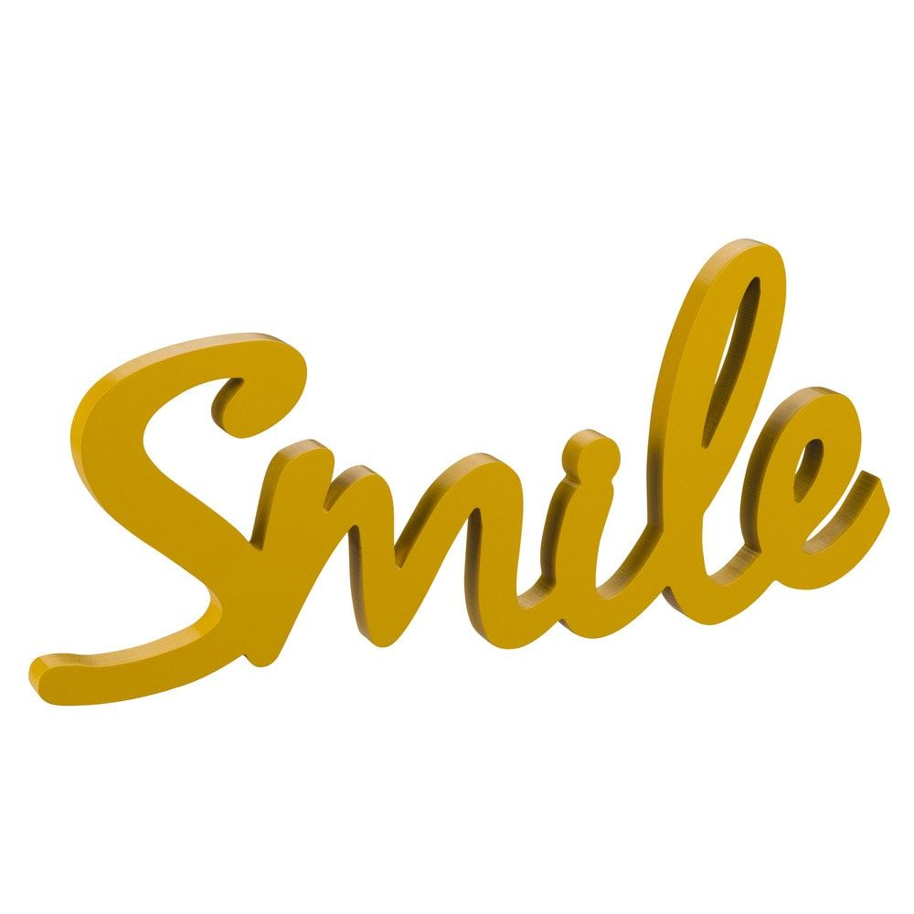SMILE Mustard Decorative Word L 46 | Gallery Wall | Pinterest ...