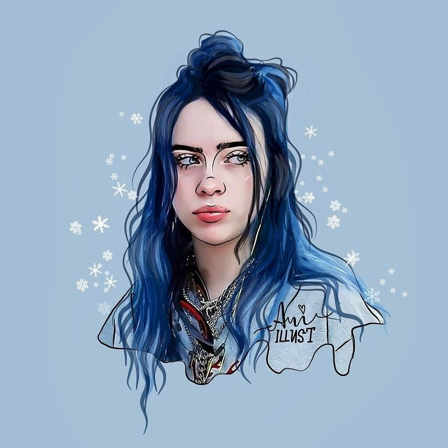 Billie Elish Billie Billie Eilish Celebrity Drawings