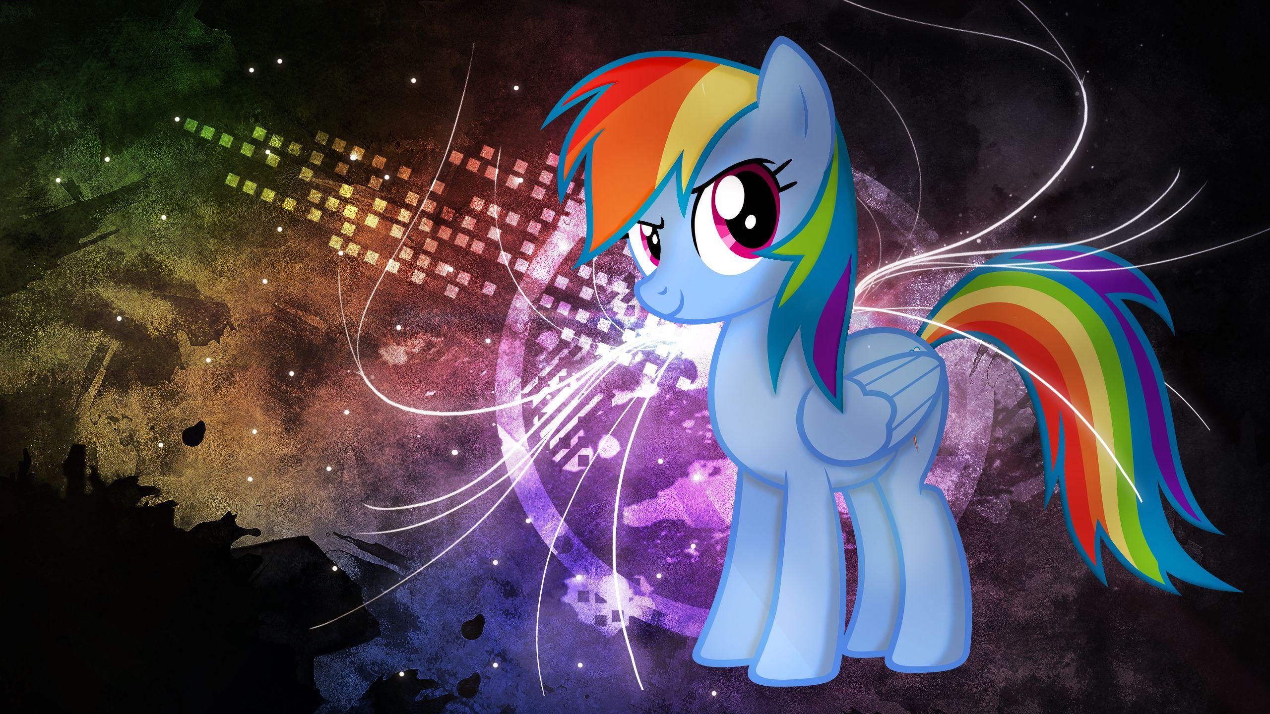 Rainbow Dash Neon Graffiti MLP My Little Pony Friendship is